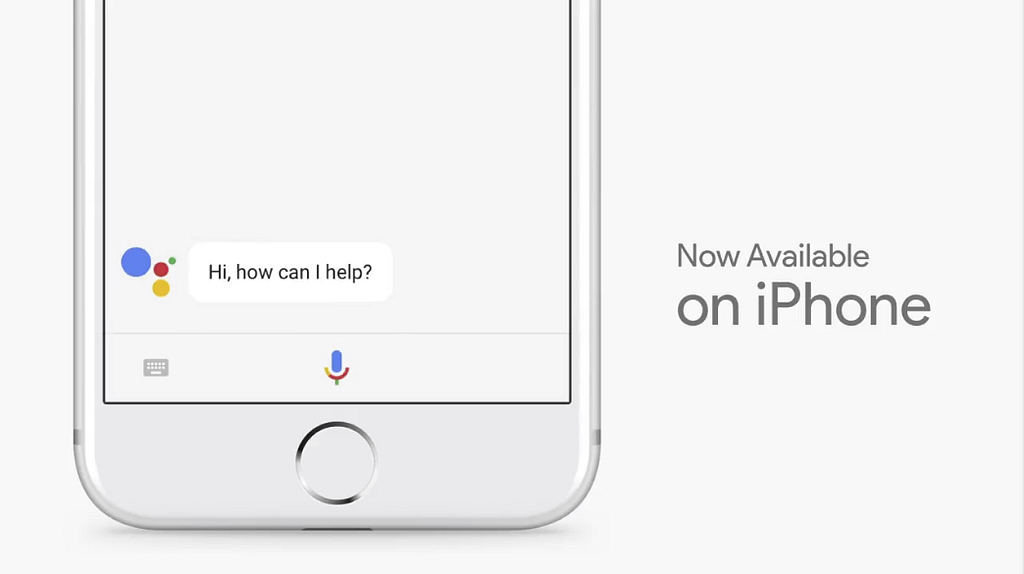 Google i/o 2017 Assistant iPhone