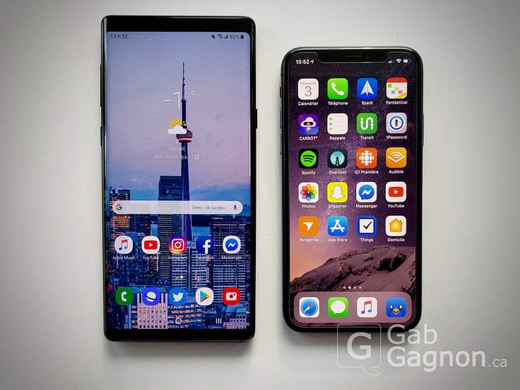 iPhone X vs Samsung Galaxy Note 9