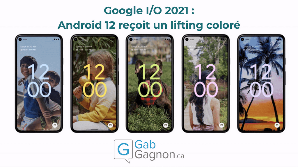 """Featured image for """"Google I/O 2021 : Android 12 reçoit un lifting coloré"""""""
