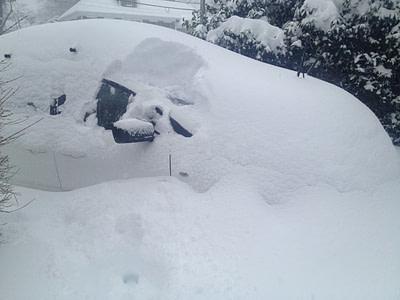 La voiture de Christian Latreille. (Photo ICI Radio-Canada)