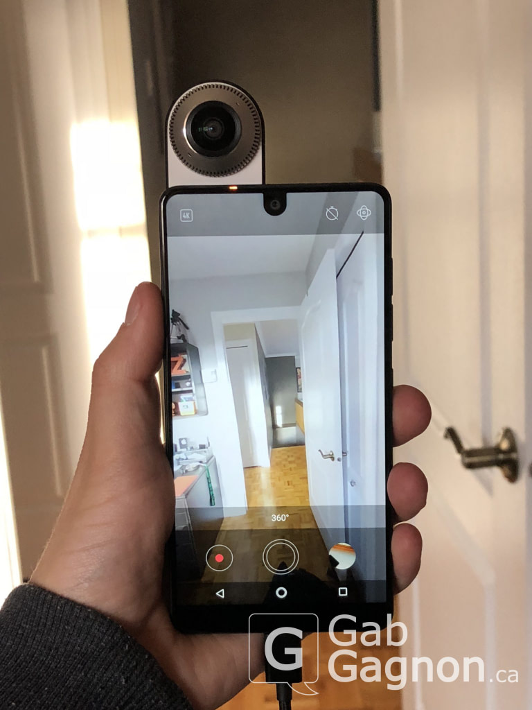 360 camera Essential Phone GabGca review