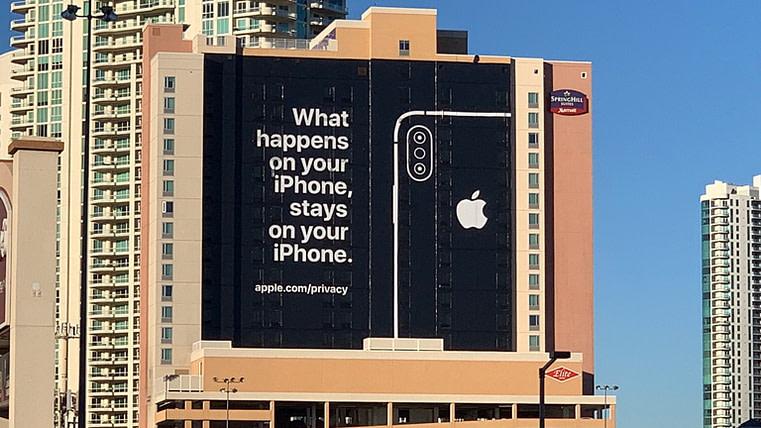 Publicité d'Apple pour vanter sa protection de votre vie privée