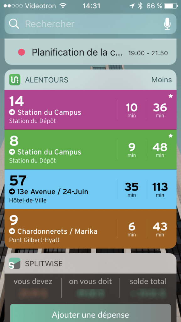 Transit Widget iOS 10